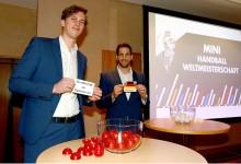 Auslosung zur Mini-WM Handball im Januar